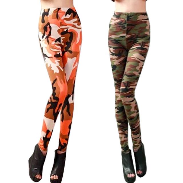 Hot женские леггинсы камуфляж армии печатных стрейч брюки узкие брюки