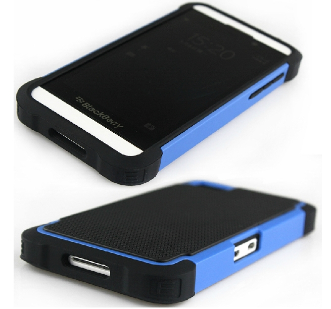 Hybrid Hard Case For BlackBerry Z10 Case Dual Layer Silicone+Hard Shell Cover Case(China (Mainland))