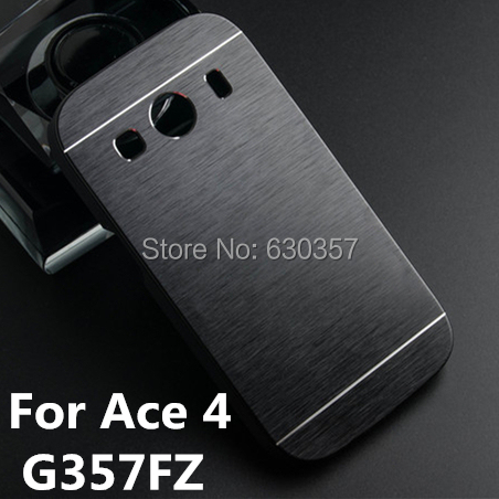 Luxury Metal Brush Aluminum+PC Material Hard case for Samsung Galaxy Ace 4 G357 G357FZ Mobile Phone case Metal Back Cover(China (Mainland))