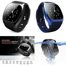 Роскошные спорт Smartwatch Bluetooth наручные часы M26 с авто-диск SMS напомнить usb-шагомер для Android смартфонов Samsung Galaxy S6 Huawei