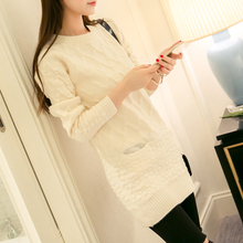 New Arrivals 2015 Autumn Winter Fashion Sweater Women Long Pullover women Sweaters dress Casual Loose Kniteed sweater pull femme(China (Mainland))