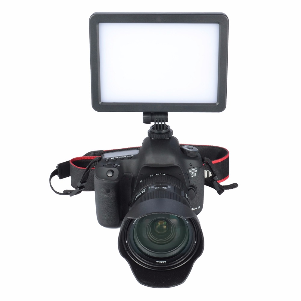 Ultra-thin 128LED 18W Adjustable Video Camera Light Lamp 3200K-5600K for Canon Nikon DSLR Camera Photographic Lighting(China (Mainland))