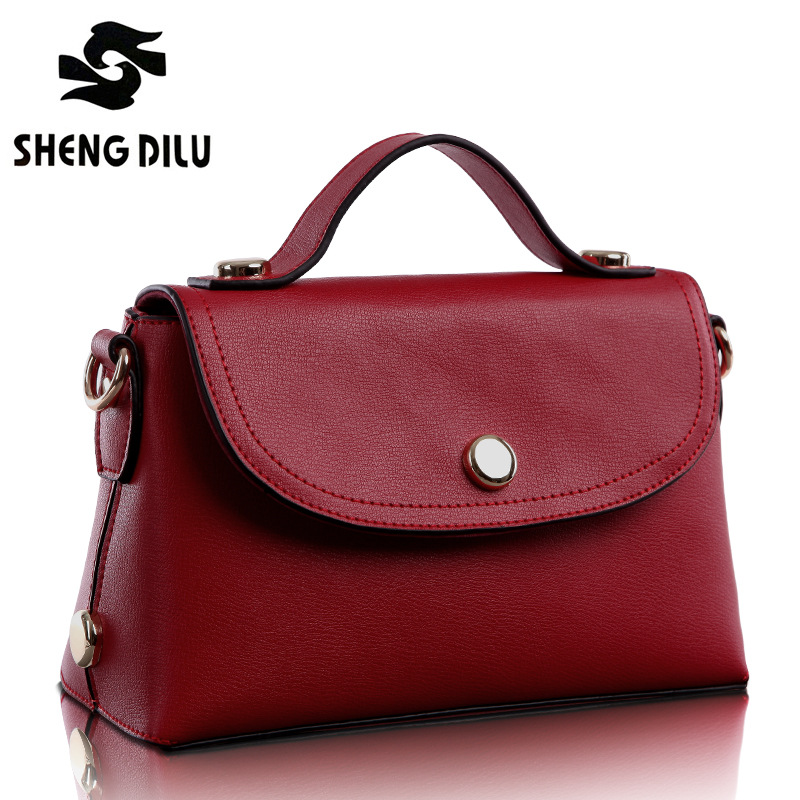 2015 Women's Spring Genuine Leather Bag Young Girl Vintage Small Fresh Messenger Bags One Shoulder Bags(China (Mainland))