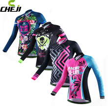 Buy CHEJI Team Women's Cycling Clothing Ropa Ciclismo Bike Bicycle Long Sleeve Cycling Jersey Tops S-XXL for $20.39 in AliExpress store