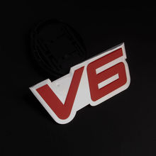 Buy 1pcs Aluminum 3D Car stickers Fender Trunk Emblem Badge Hood Car Pick up Red V6 Side Decal Sticker for peugeot 4008 citroen c2 for $4.99 in AliExpress store