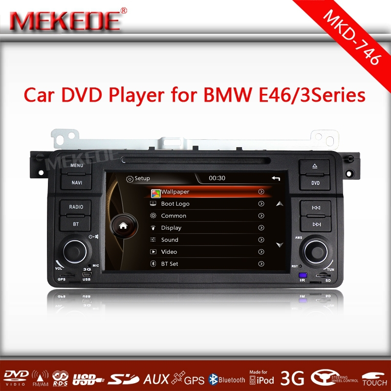 MTK3336NCG CPU 800MHZ Dual Core 1080P Video 10EQ band Car DVD GPS navi player for 3 Series E46/M3 with BT IPOD MIC Radio(China (Mainland))