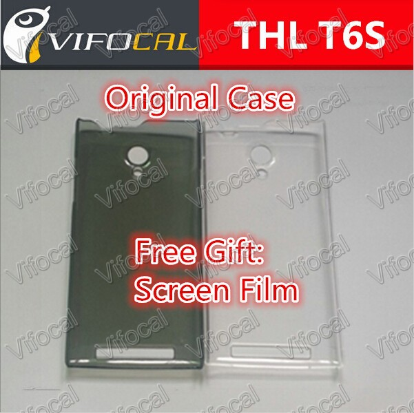 THL T6s case + Screen Protector Film 100% Original Case Cover accessory for THL T6 Pro mobile Phone + Free Shipping - In Stock(China (Mainland))