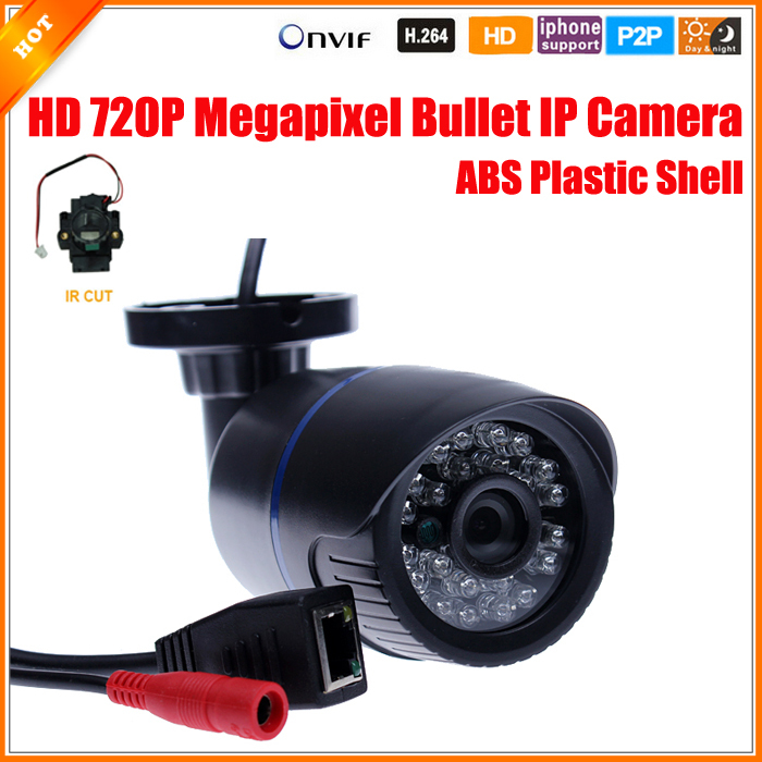 1280*720P 1.0MP Bullet IP Camera IR Outdoor Security ONVIF 2.0 Waterproof Night Vision P2P IP Cam IR Cut Filter Megapixel Lens(China (Mainland))