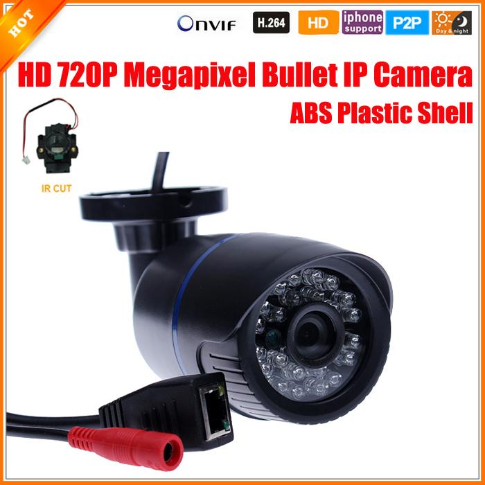 1280*720P 1.0MP Bullet IP Camera IR Outdoor Security ONVIF 2.0 Waterproof Night Vision P2P IP Cam IR Cut Filter Megapixel Lens(China (Mainland))