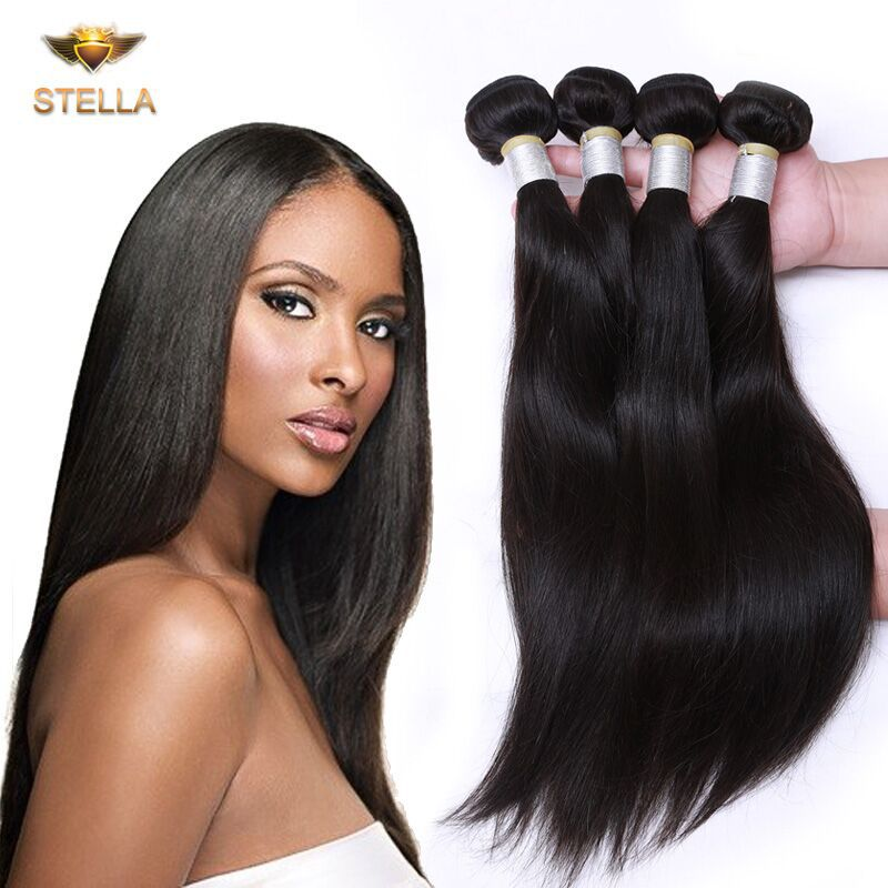 Cheap Brazilian Virgin Hair Straight 4 Bundle Deals 100% Brazilian Human Hair Straight Hair Weave Cheap Unprocessed Hair Bundles
