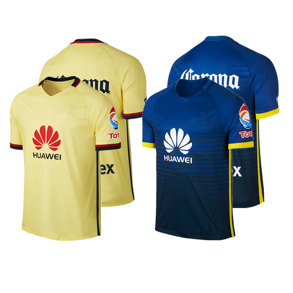 15/16 Club America P. aguilar O. peralta Sambueza M.LAYUN MICKY D.BENEDEDDO Best Quality Soccer Jerseys Shirt(China (Mainland))