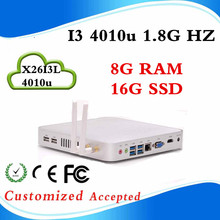 support hd video X26-I3L 4010U 8G RAM 16G SSD desk computer case linux micro pc mini pcs Low Price