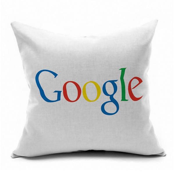 World Google Internet Technology Symbol Logo Internet Emoji Pillow Massager Decorative Pillows Case Cover Euro Home Decor Gift(China (Mainland))