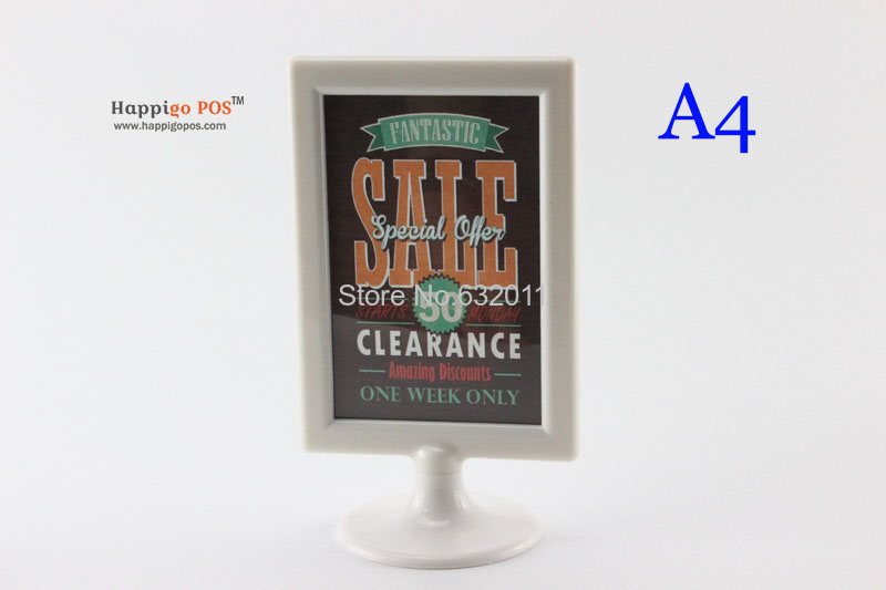 10 pcs A4 brand Drink List namecard sign poster plastic frame display stand menu POP price holder desk tabel tablet(China (Mainland))