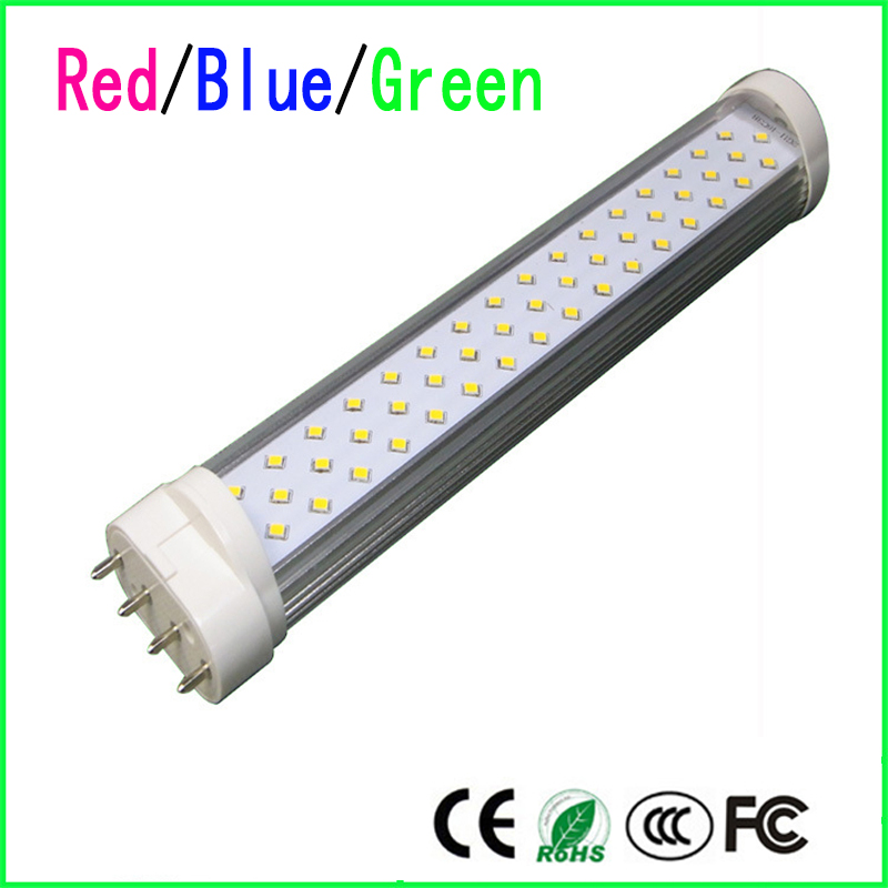 High quality 2G11 GY10 LED Tube Light 18W 25W SMD2835 AC85--265V red/blue / green LED Horizontal Plug Lamp(China (Mainland))