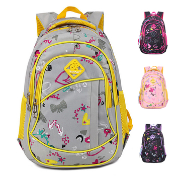 Милые девушки цветочные печать начальная школа мешок рюкзак модный детей дети рюкзак ...