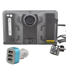 7 » Android 4.4.2 автомобиль GPS навигации грузовик автомобильный навигатор радар-детектор, Автомобильный видеорегистратор, Av-in w / навител мпо или Sygic карты