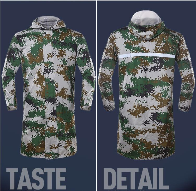 Camouflage Long Raincoat 12