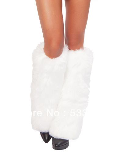 Сексуальный женщины в аксессуары костюмы аксессуары мех Legwarmers белый A17306