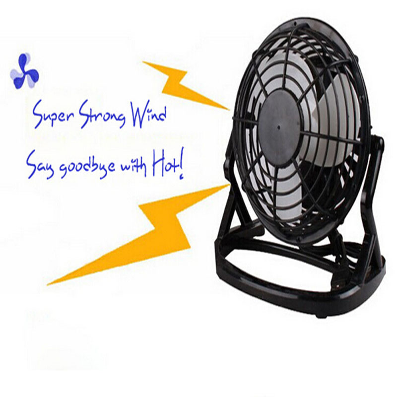 Free shipping Black Mini Portable USB Powered Desktop Cooling Desk Fan Computer Laptop Quiet(China (Mainland))