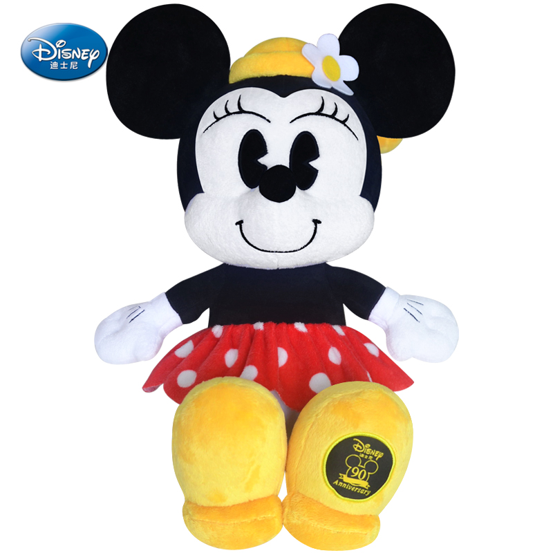 """Disney Minnie Mouse 19"""" inches Plush 90th Anniversary models and white face Baby Stuffed Toy Kids Preferred doll(China (Mainland))"""