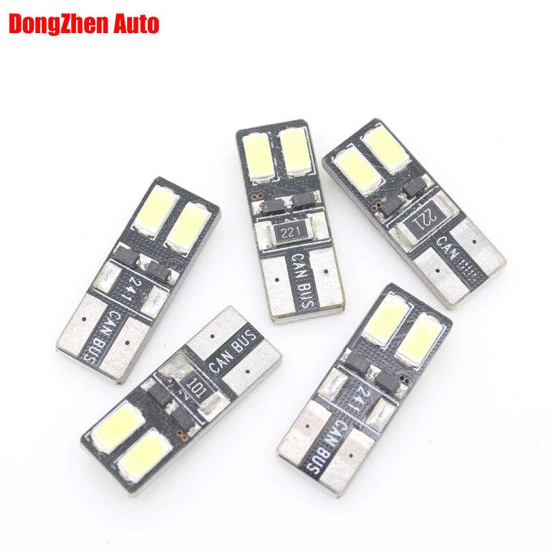10X Auto Moto Canbus W5W T10 4 LED Erro Free License Plate Bulb Light Car 5W5 Cargo Door Dome Festoon C5W C10W LED Light Xenon(China (Mainland))
