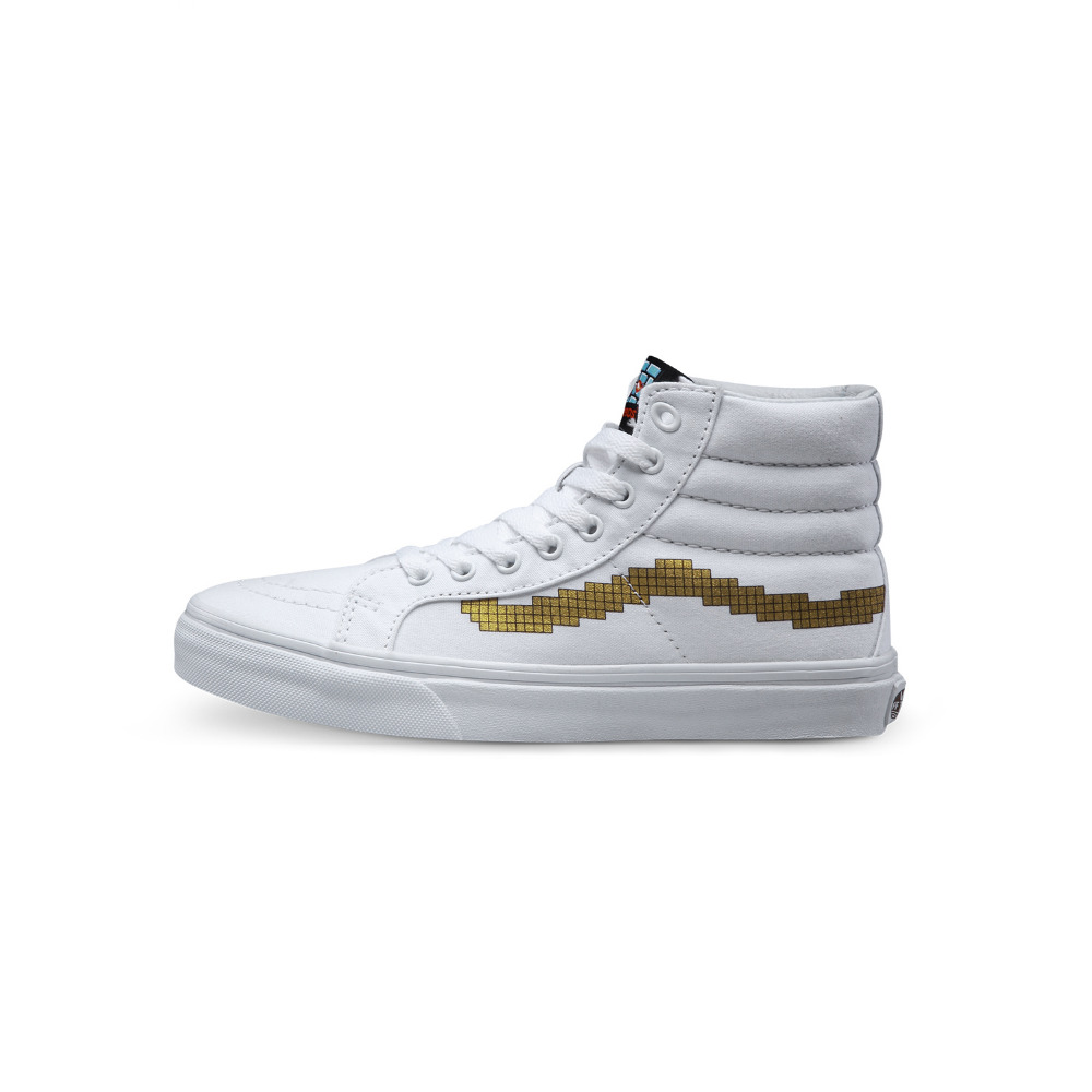 Vans classic sk8-hi slim white women's lovely canvas high-top shoes for female skateboarding sneakers free shipping(China (Mainland))