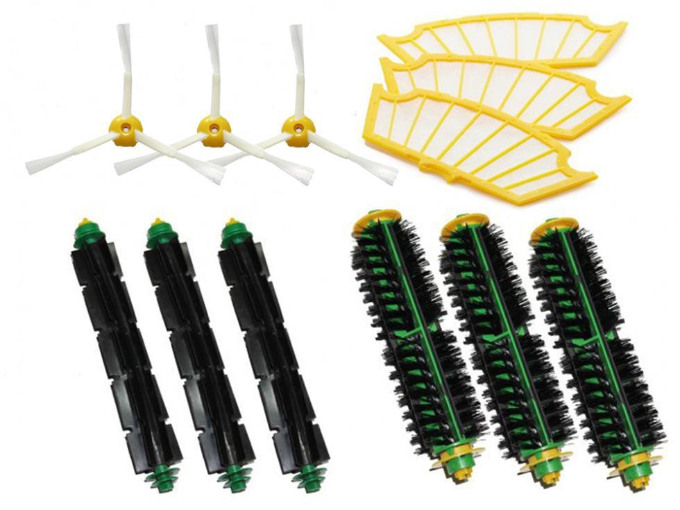 Free Shipping Filters & Brush Pack Mega Kit for iRobot Roomba 500 Series 3 Armed Vacuum Cleaner Accessories Parts(China (Mainland))