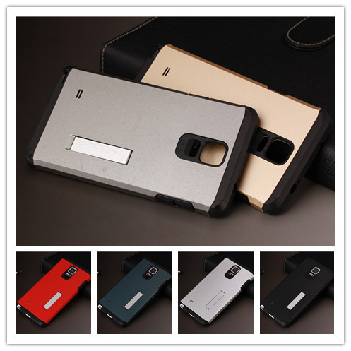 Luxury Tough Slim Armor Case Samsung Galaxy Note 4 N9100 IV Cell Phone Cases Back Cover PY Stand Function - Umex store