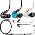 High quality Black and white and blue 3 5mm Earphones Headsets sports running Earbuds SE215 for