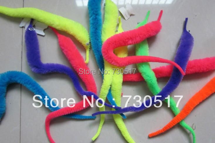 Plush Magic Wiggle Worm Twisty Worm Stuffed Animals Assorted Colors Mr.Fuzzy Magic Trick Toys For Kids Children 10pcs/lot KF363(China (Mainland))