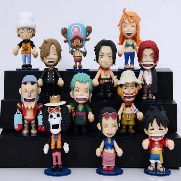Onepiece Nendoroid Toy Vinyl Doll One Piece Mini Figure PVC Action Figures One Piece Anime Figurines Kids Toys For Boys Children(China (Mainland))