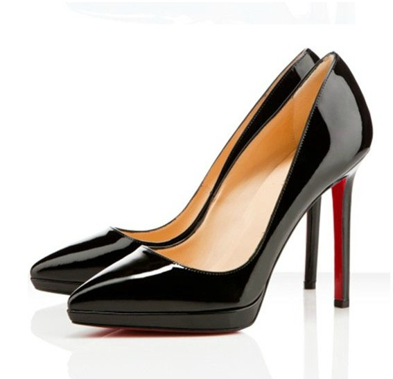 2015 fashion trend of the classic sexy pointed toe japanned leather high-heeled platform red sole shoes female wedding shoes(China (Mainland))
