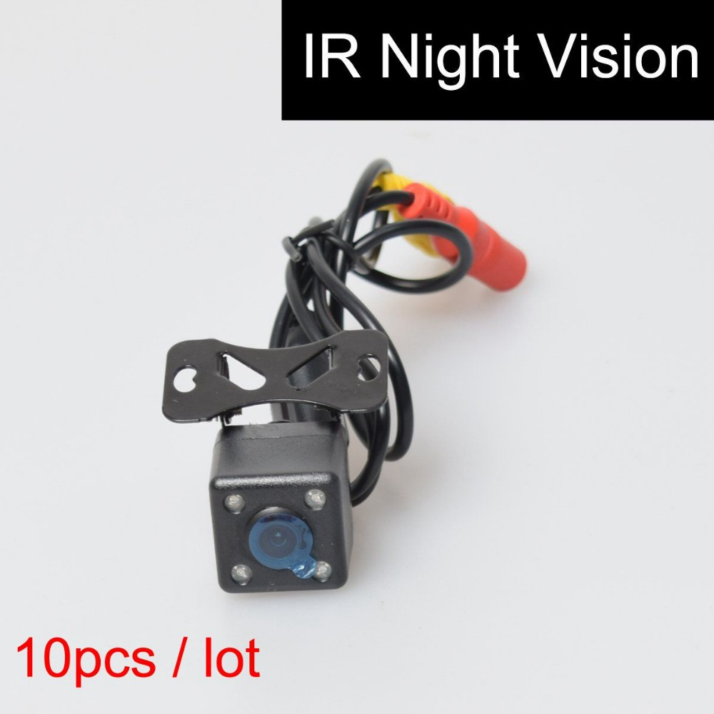 10Pcs Car Auto Automotive Rear View Backup Camera 4 Infared Night Vision IR Lights Free 6M / 20FT RCA Video Extension Cable(China (Mainland))
