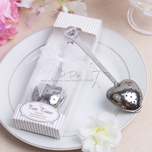 Free Shipping Tea Time Tea Infuser Wedding Favors And Gifts Wedding Supplies Wedding Souvenirs Wedding Gifts For Guests(China (Mainland))