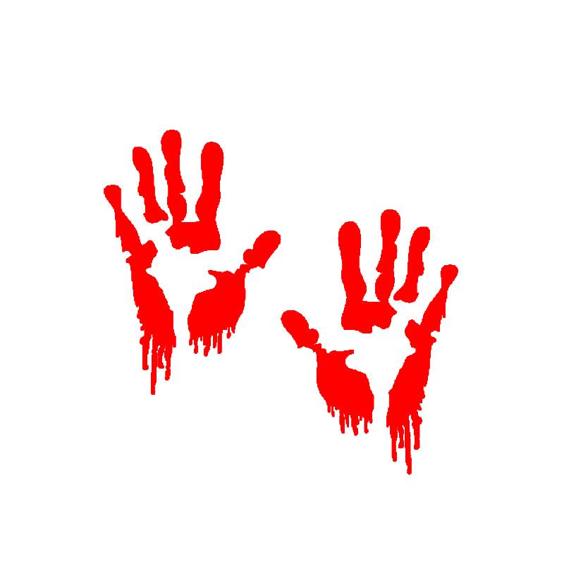 HotMeiNi Funny Car Sticker 15*10cm Bloody Zombie Hand Walking Dead Halloween Red Outbreak Truck Window Bumper JDM Vinyl Decal(China (Mainland))