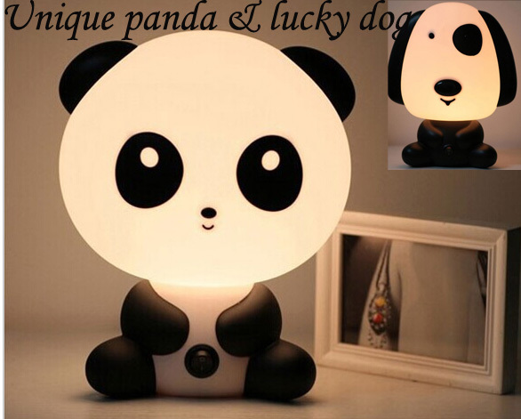 No. 1-Lamps for Children Gift panda lucky dog LED Night Light Lights Mini Projector Lamp baby Toy nightlight(China (Mainland))