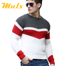 Sweater men pullover brand polo men sweater hombre clothing wool acrylic winter dress thick shirt O-neck striped full 888017(China (Mainland))