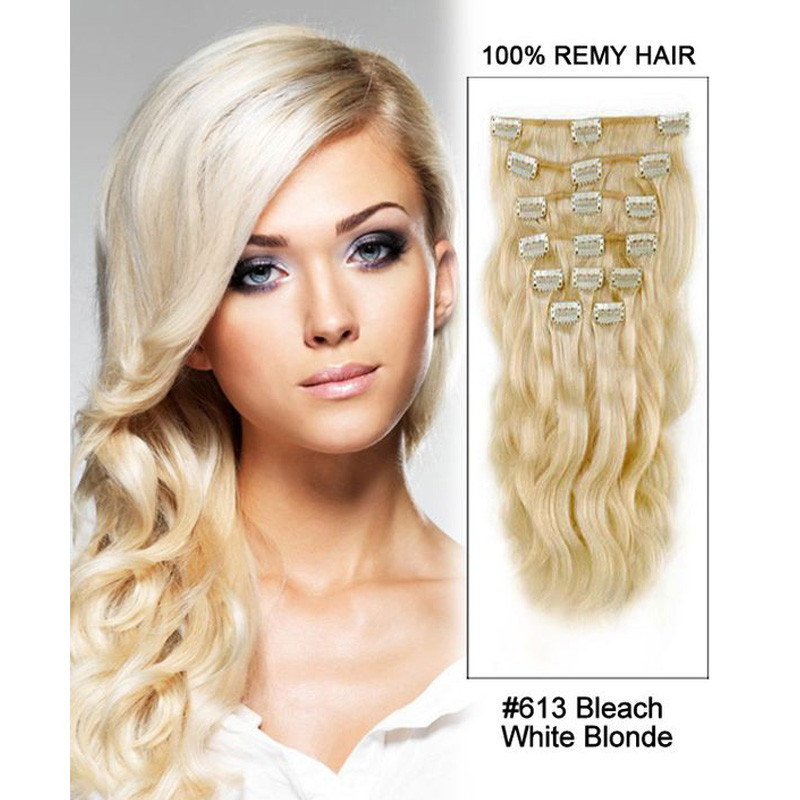 African American Clip In Human Hair Extensions Wavy 70g Brazilian Human Hair Clip In Extension Brazilian Virgin Hair Clip In