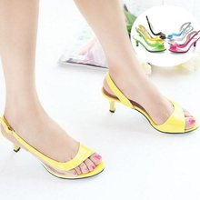 Big size 34-43 2015 Fashion Vintage Mid Heel Gladiator Less Platform Open toe Sandals Thin Heel Summer Shoes for Women