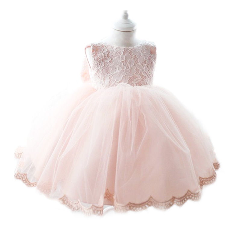 HELLO BABY Delicate 1 years birthday Tutu Dress With Big Bow,Pink Wedding Party Wear,vestido infantil 1084(China (Mainland))