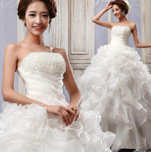 Бесплатная доставка 2016 нью-line бисероплетение рукавов белого атласа свадебные ...