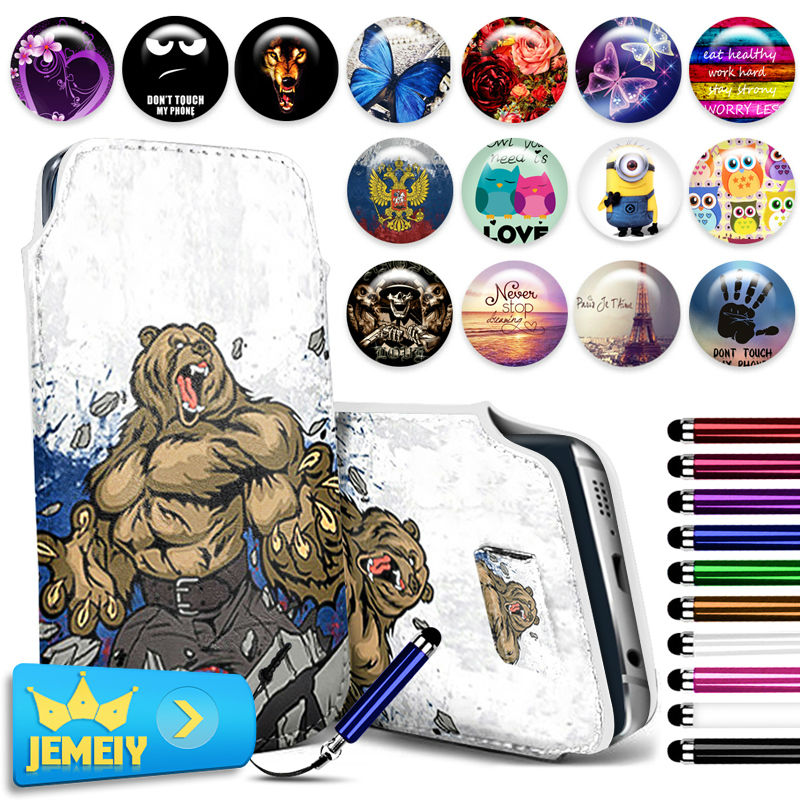 For Samsung Galaxy Core LTE 4G G386F G386W Win i8550 i8552 Case Print PU Leather Pull Tab Sleeve Pouch Bag Cover Small Size(China (Mainland))