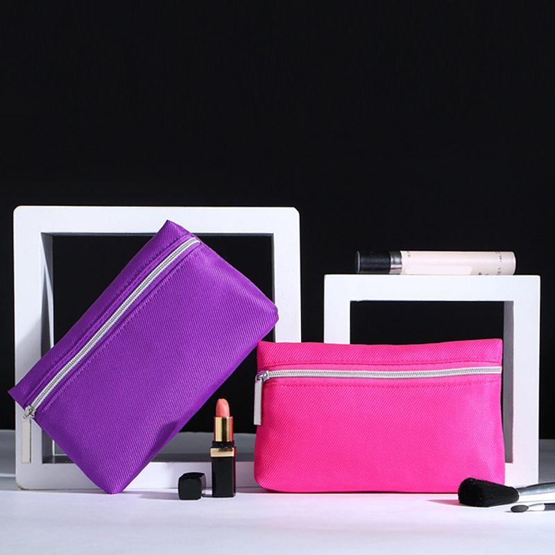 2015 New Candy 2 Colors Women Ladies Cosmetic Makeup Storage Bags Fashiong Travel Pen Pencil Pouch Cosmetic Bags & Cases(China (Mainland))