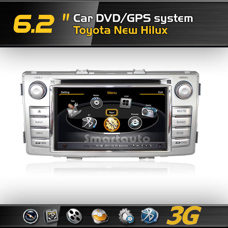 DDR2 512M,Virtual 20 CD,4G memory,Car DVD GPS for Toyota New Hilux Support Rearview CCD Camera(China (Mainland))