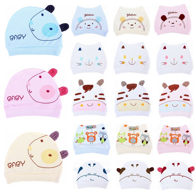 1pcs 18 style High quality Newborn Children Cotton Baby Hat Girl Boy Beanies Caps Toddler Boys & Girls Gift Baby Hat(China (Mainland))