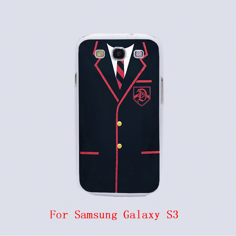 GLEE DALTON ACADEMY UNIFORM Design black skin phone cover cases For Samsung Galaxy S3 9300 /S4 /S5 /S6 /S6 Edge(China (Mainland))