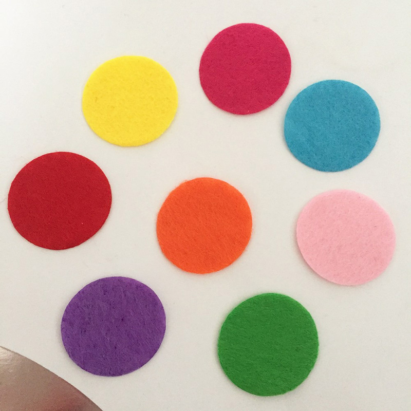 Summer 100pieces/Lot 30mm Mix Color Padded Toys Felt Round Shape Craft/ DIY Toy Appliques Clothing Decoration Scrapbook Kid Gift(China (Mainland))