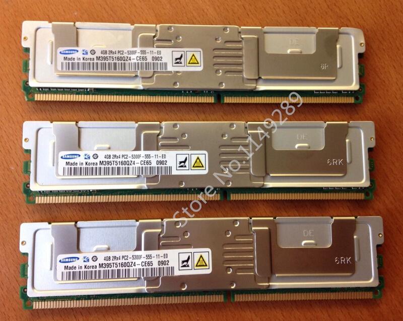 For samsung 4GB 8GB 16GB DDR2 4G 667MHz 2Rx4 PC2-5300F ECC FBD Server memory FB-DIMM RAM(China (Mainland))