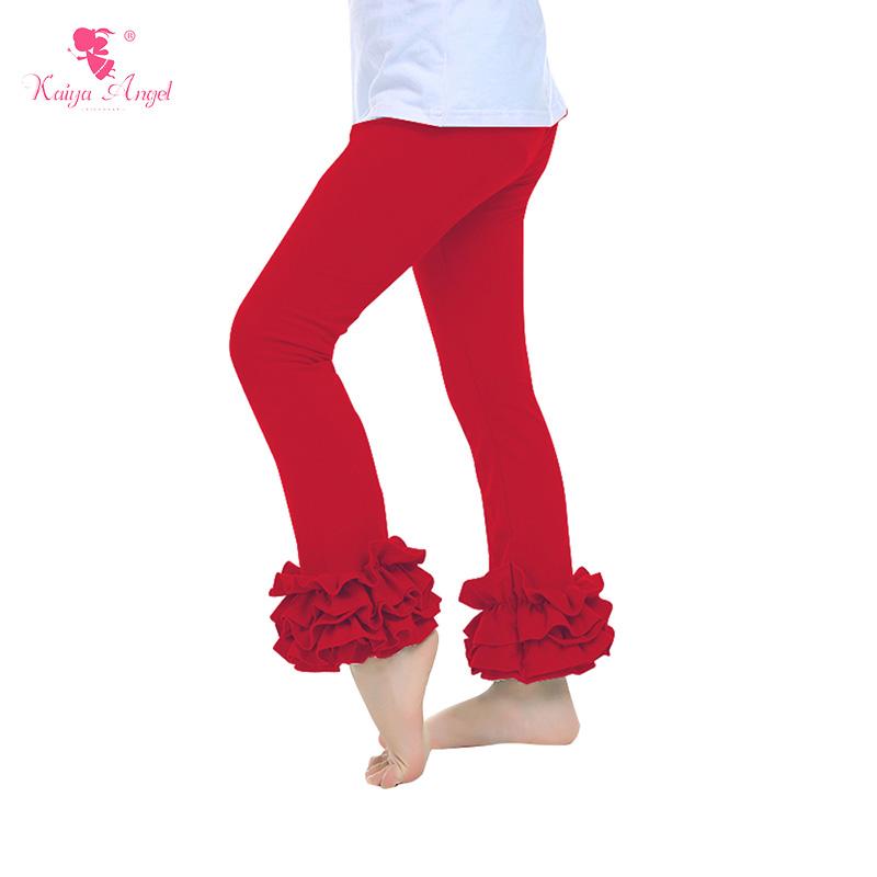 Girls Leggings Girl Ruffle Pants Retail One Piece Red Christmas Baby Kids Leggings Ruffled Fall Winter Kids Pants Leggings Baby(China (Mainland))